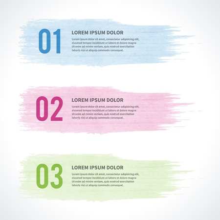 web site design template: Vector step options banners and numbers design template for web site  Vector illustration