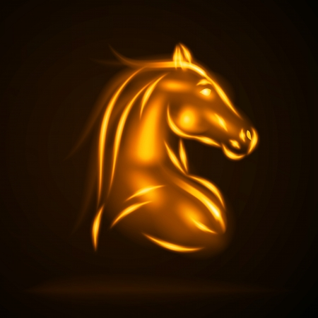 Horse from fire vector illustration Stock Vector - 21447715