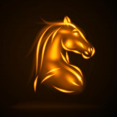 Horse from fire vector illustration Illustration