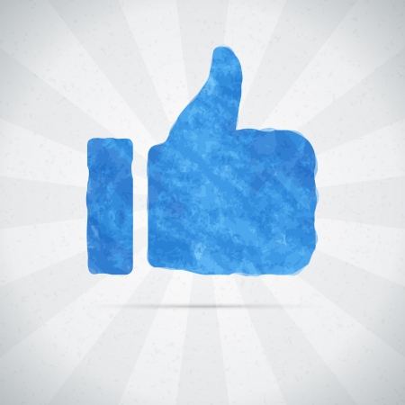 Thumbs up or like watercolor hand draw   Vector illustration Stock Vector - 21447721
