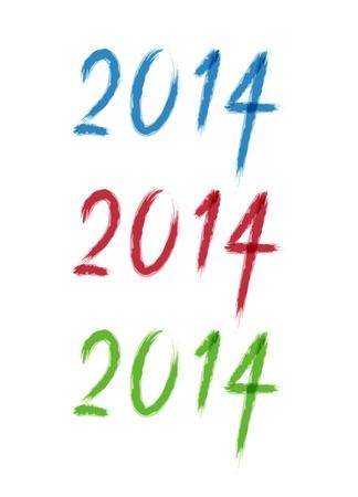 caligraphic: Happy new year - 2014 calligraphic design vector illustration Illustration