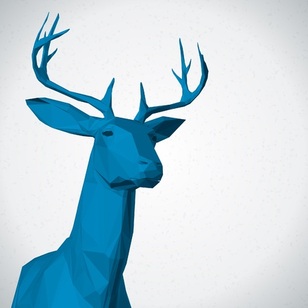 Deer head background Vector