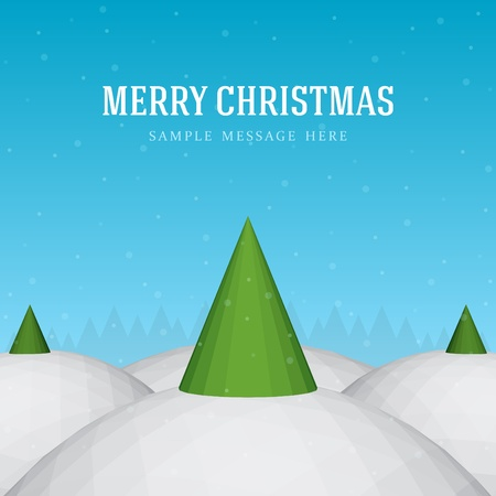 Christmas tree and star background Vector