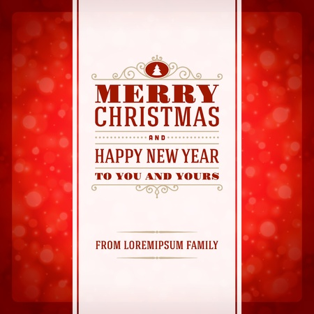 Merry Christmas invitation card ornament decoration background  Vector illustration Eps 10  Happy new year message  Vector