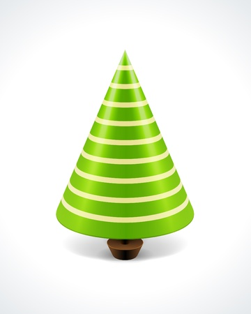 on the tree: Christmas tree background  Illustration