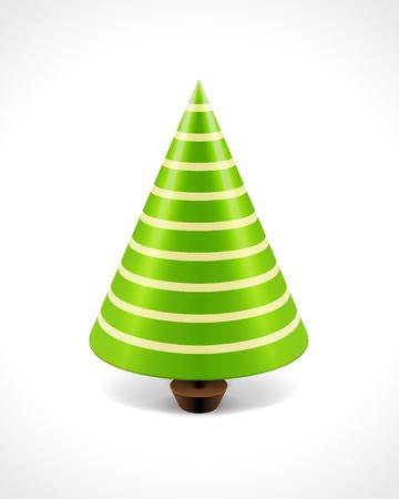 Kerst boom achtergrond Stock Illustratie