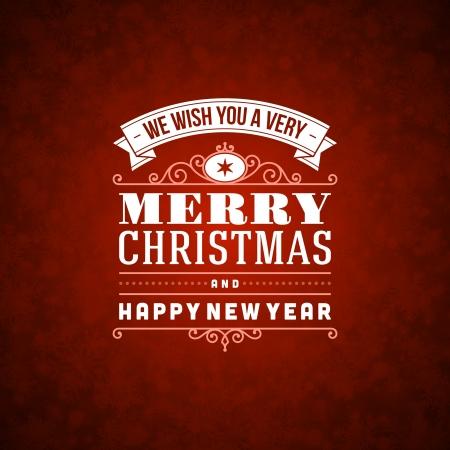 vacaciones: Feliz Navidad ornamento postal decoración del fondo Vectores