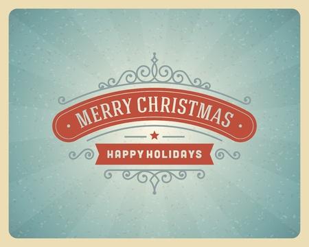 Merry Christmas postcard ornament decoration background   Vector