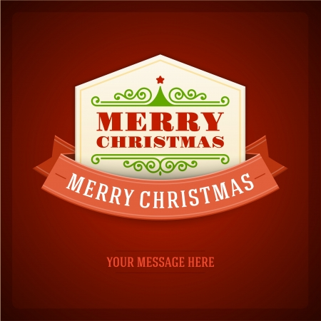 Merry Christmas card ornament decoration background Stock Vector - 22027063