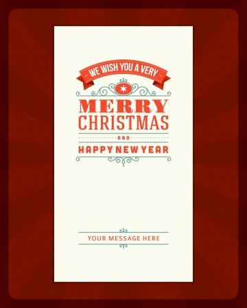 new yea: Feliz Navidad tarjeta de invitaci�n Fondo de ornamentos de decoraci�n