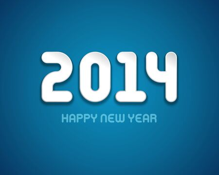Happy new year - 2014   Vector