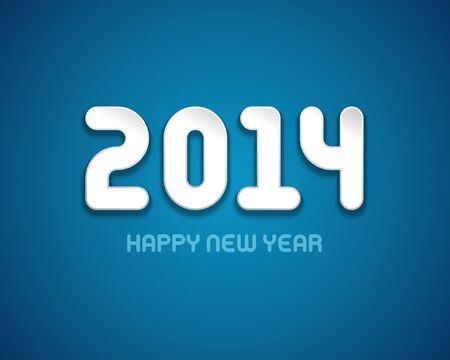 caligraphic: Happy new year - 2014