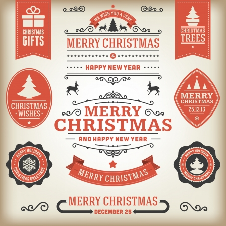 Christmas decoration vector design elements collection Stock Vector - 22524777