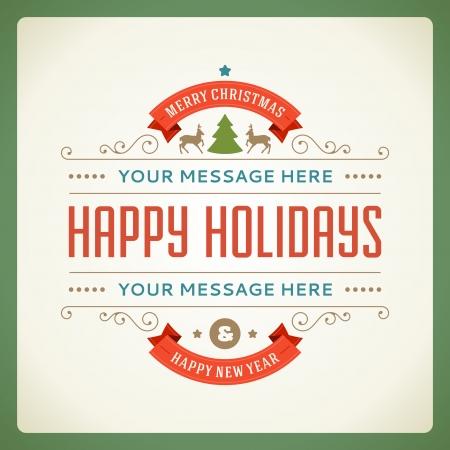Merry Christmas briefkaart ornament decoratie, achtergrond, Vector illustratie