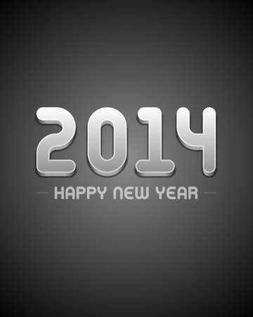 caligraphic: Happy new year 2014 design vector background  Illustration