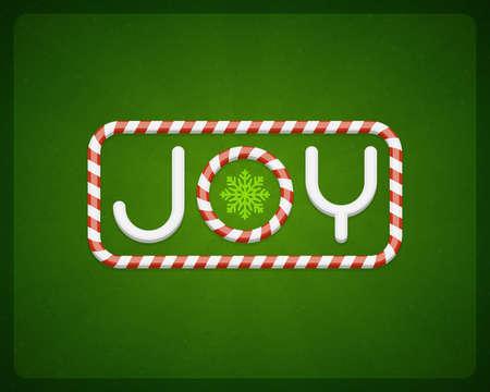 postcard background: Merry Christmas Joy postcard background  Vector illustration