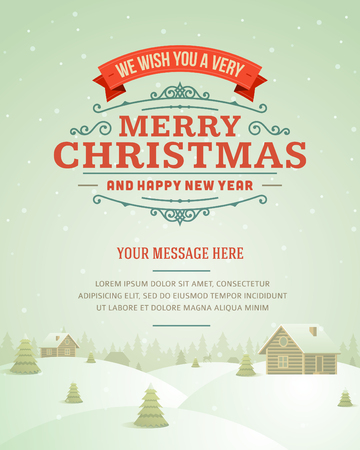 winter holiday background: Merry Christmas postcard ornament decoration background  Vector illustration Eps 10  Happy new year message, Happy holidays wish