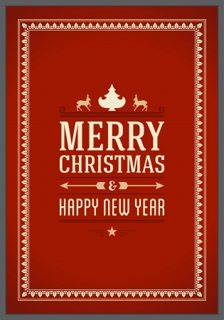 Merry Christmas postcard ornament decoration background  Vector illustration Eps 10  Happy new year message, Happy holidays wish   Vector