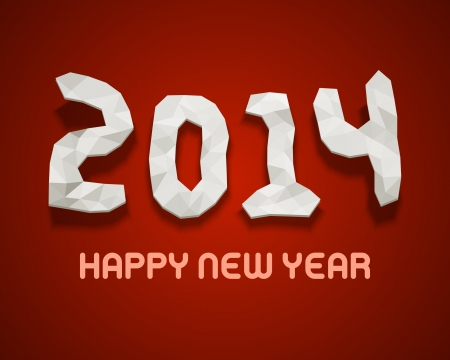 Happy new year - 2014 design vector background  Vector