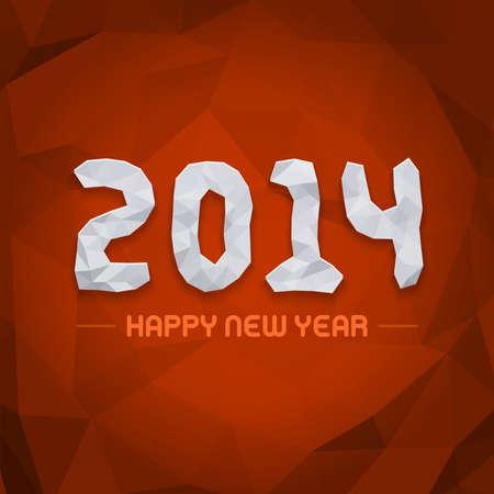 Happy new year - 2014 design vector background  Vector