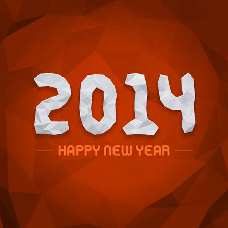 caligraphic: Happy new year - 2014 design vector background  Illustration