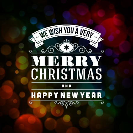 merry: Merry Christmas message and light background  Vector illustration Eps 10   Illustration