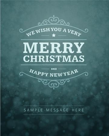 frohes neues jahr: Weihnachtskarte Ornament Dekoration Hintergrund Vektor-Illustration Happy new year Nachricht, wünschen frohe Feiertage