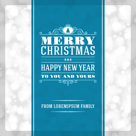 Christmas invitation card ornament decoration background  Vector illustration Eps 10  Happy new year message   Vector