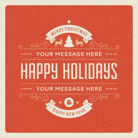postcard background: Christmas postcard ornament decoration background  Vector illustration Eps 10  Happy new year message, Happy holidays wish