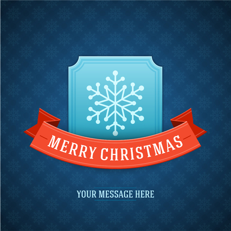 Merry Christmas card and snowflake decoration background  Vector illustration Eps 10   Vector