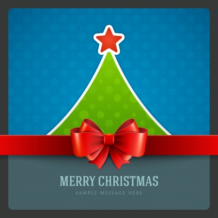 Christmas green tree and star background  Vector illustration Eps 10 Stock Vector - 23262387