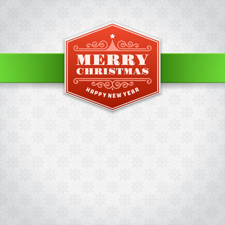 Christmas label card background  Vector illustration Eps 10