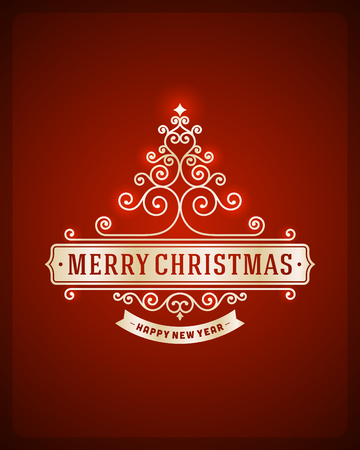 Christmas tree from flourishes calligraphic background  Vector illustration Eps 10   Vector