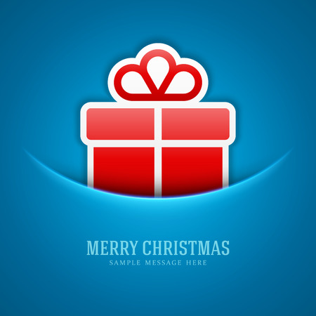 Christmas card and gift box decoration background  Vector illustration Eps 10   Vector