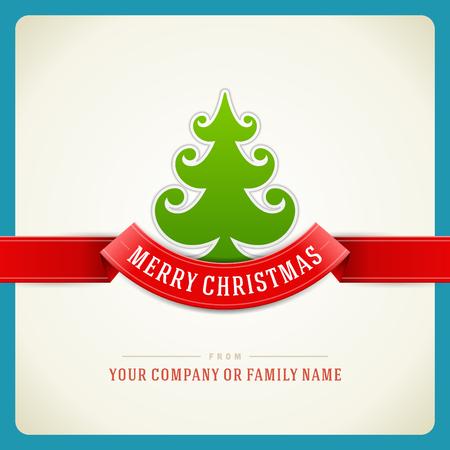 Arbre de Noël vert et étoiles fond Illustration vectorielle 10 Eps