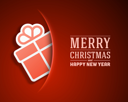 season: Christmas card and gift box decoration background  Vector illustration Eps 10   Illustration