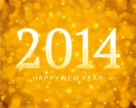 Happy new year - 2014 message and abstract light design vector background  Stock Vector - 23701765