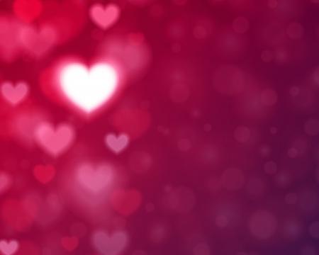 ハートの形と光ベクトルの背景のバレンタインの日