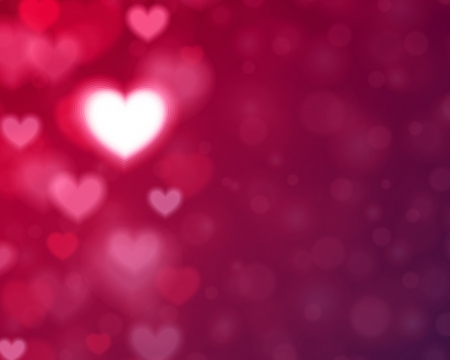 Heart shape and light vector background  Valentines day