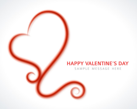 Drawing heart shape and light vector background  Valentines day Vector