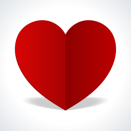 valentine s day: Heart from paper vector background  Valentine s day card Illustration