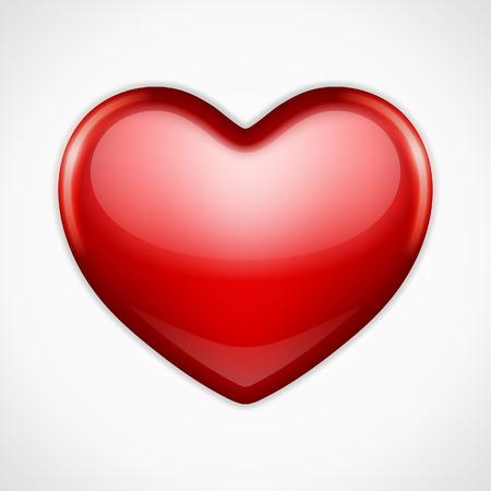 trendy shape: Shiny heart shape vector background  Valentines day