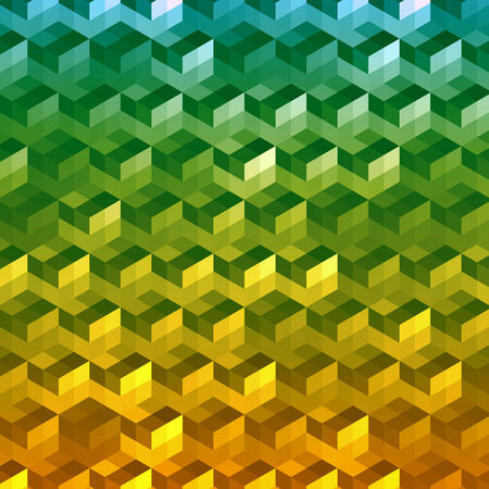 Abstract geometric 3d cubes technology vector background  Vector