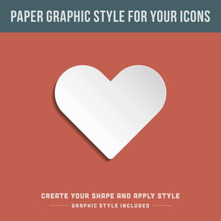 bend: Bend paper and shadow vector graphic style  For icons style included   Illustration