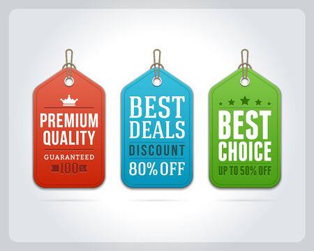 hang tag: Vintage sale tags vector design elements  Retro style