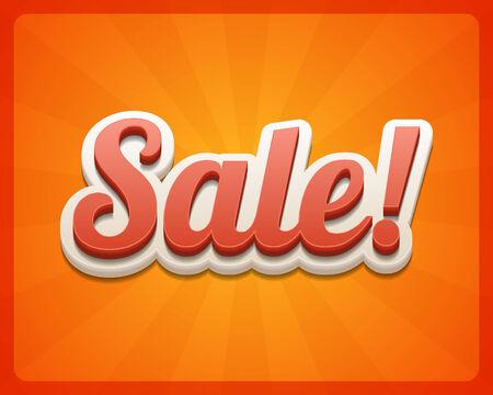best price: Vintage sale vector background  Retro style