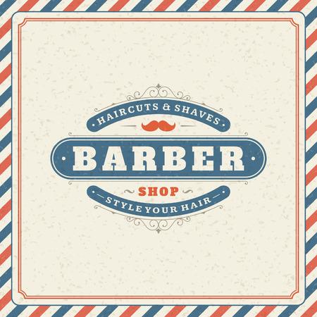 barber shop: Barber shop vintage retro typographic design template
