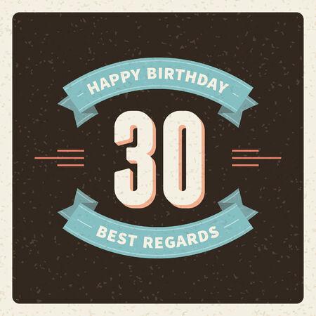 grange: Vintage happy birthday card background