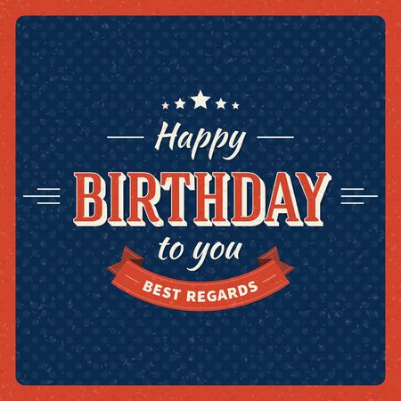 Fondo tarjeta de feliz cumpleaños vintage Ilustración de vector