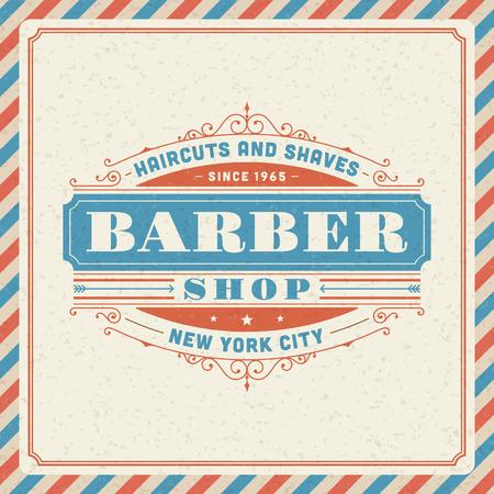 Barber shop vintage retro typography template Stock Vector - 26273436